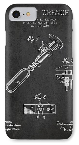 Monkey Wrench Patent Drawing From 1883 Phone Case by Aged Pixel