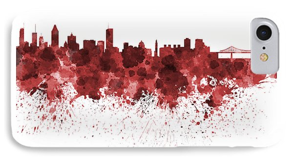 Montreal Skyline In Watercolor On White Background IPhone Case by Pablo Romero