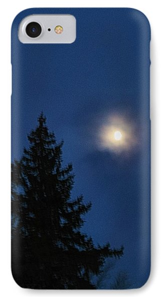 Moon Beyond The Spruce IPhone Case