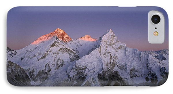 Moon Over Mount Everest Summit IPhone Case by Grant  Dixon