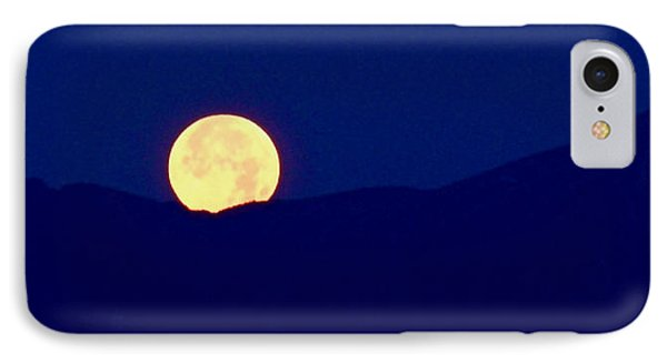 Moonset IPhone Case by Rona Black