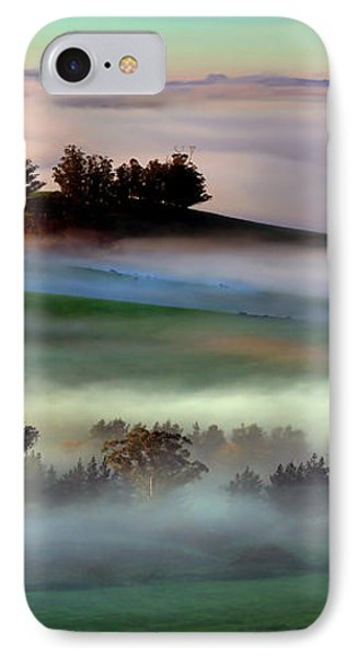 Morning Fog Over Two Rock Valley Diptych IPhone Case by Wernher Krutein