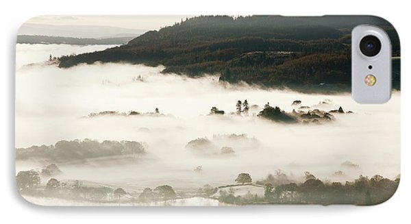 Morning Mist Over Lake Windermere IPhone Case