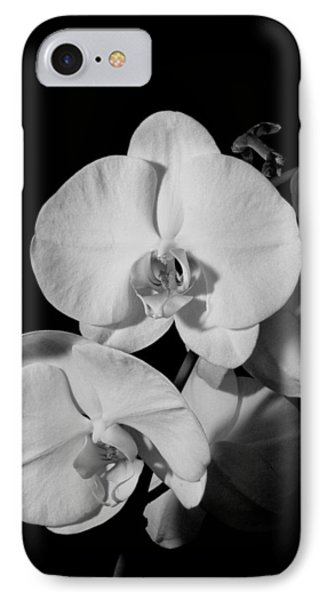 Moth Orchid Bw IPhone Case