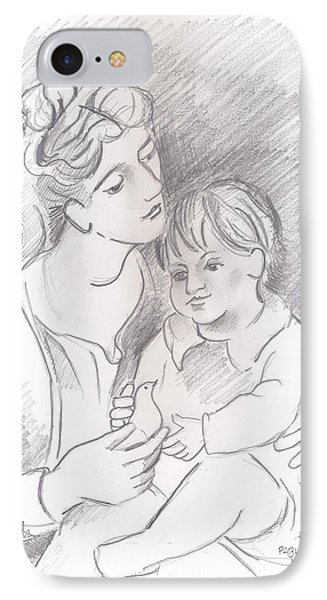 Mother And Child IPhone Case by John Keaton
