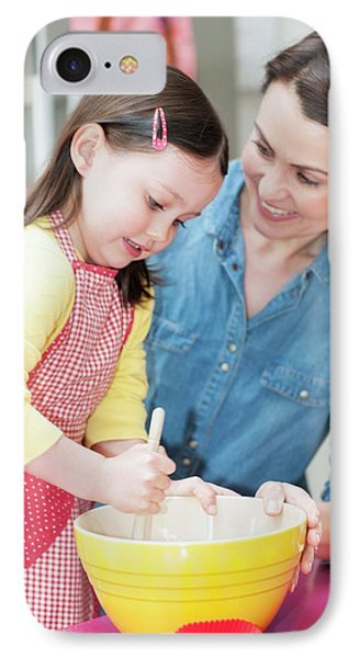 Mother And Daughter Baking IPhone Case