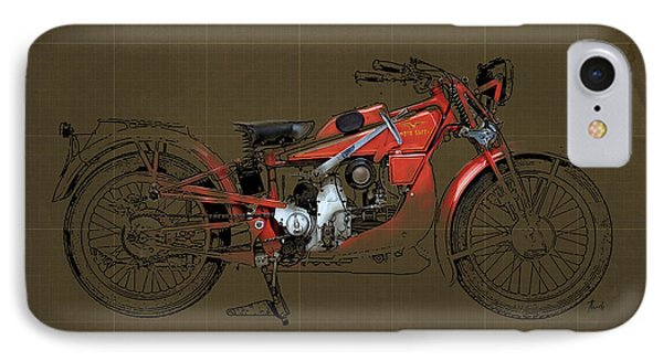 Moto Guzzi Gt Norge 500 1928 Phone Case by Pablo Franchi