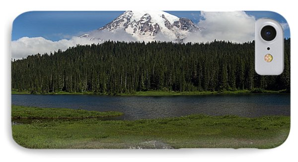 Mount Rainier From Reflection Lake IPhone Case
