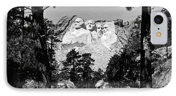 Mount Rushmore In South Dakota IPhone Case by Underwood Archives