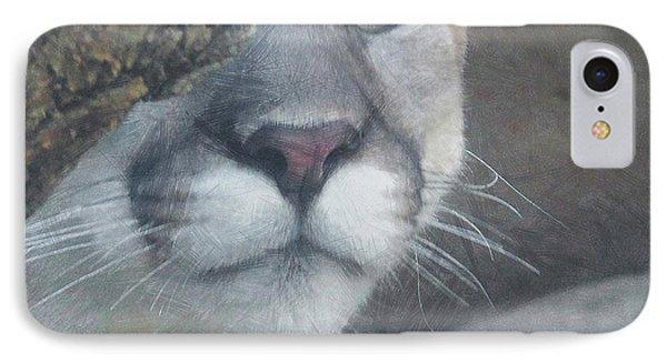 Mountain Lion Painterly Phone Case by Ernie Echols
