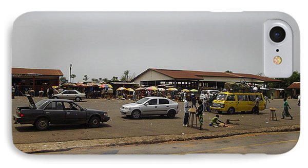 Moyamba Junction-markets IPhone Case by Mudiama Kammoh