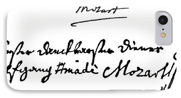 Mozart Autograph IPhone Case by Granger