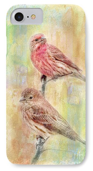 Mr And Mrs House Finch - Digital Paint Phone Case by Debbie Portwood
