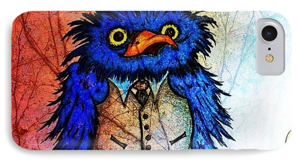 Mr Blue Bird IPhone Case by Vickie Scarlett-Fisher