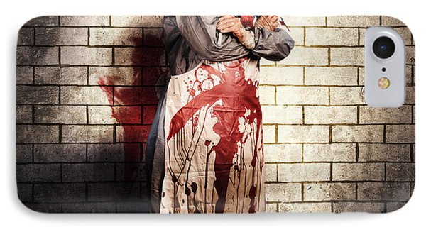 Murderous Monster Clown Standing In Full Length IPhone Case by Jorgo Photography - Wall Art Gallery