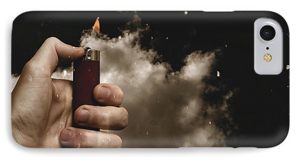 Music Festival Person Holding Lighter At Concert IPhone Case by Jorgo Photography - Wall Art Gallery