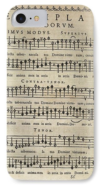 Music Theory IPhone Case by Middle Temple Library