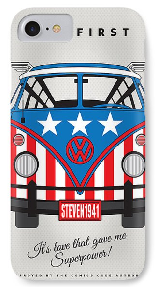My Superhero-vw-t1-captain America	 IPhone Case by Chungkong Art