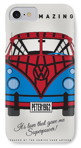 My Superhero-vw-t1-spiderman IPhone Case by Chungkong Art