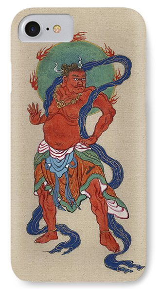 Mythological Buddhist Or Hindu Figure Circa 1878 IPhone Case by Aged Pixel