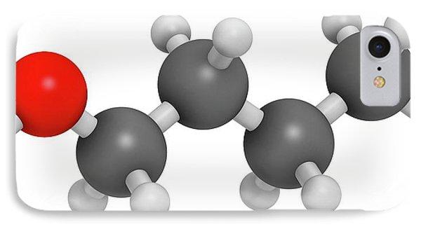 N-butanol Molecule IPhone Case by Molekuul