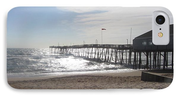 Nags Head Pier 2 IPhone Case by Cathy Lindsey