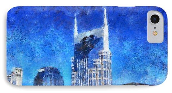 Nashville Skyline Phone Case by Dan Sproul