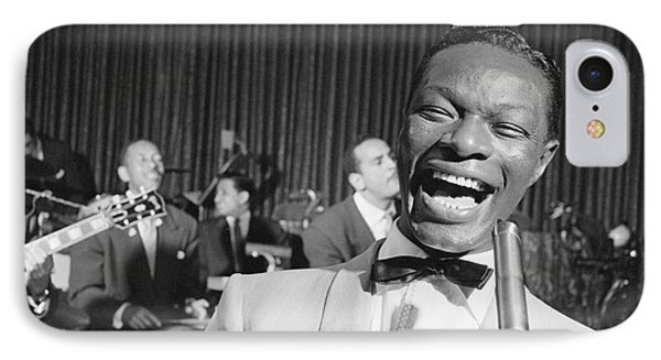Nat King Cole 1954 IPhone Case by The Harrington Collection