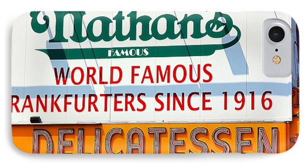 Nathan's Sign IPhone Case by Valentino Visentini