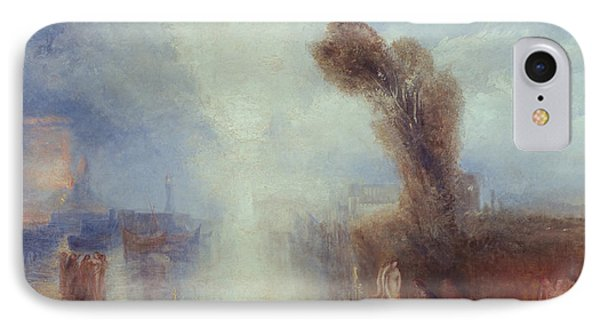 Neapolitan Fisher Girls Surprised Bathing By Moonlight IPhone Case by Joseph Mallord William Turner