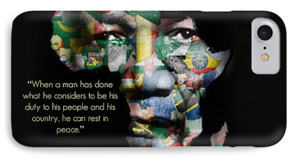 Nelson Mandela IPhone Case by Lynda Payton