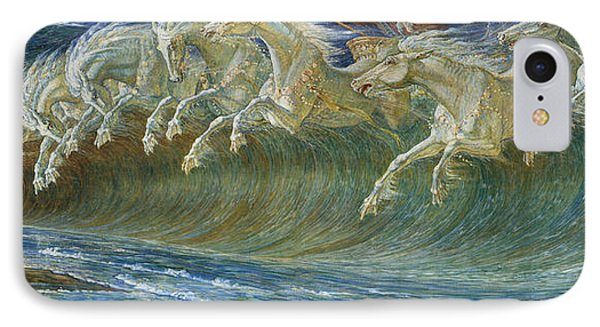 Neptune's Horses IPhone Case by Walter Crane