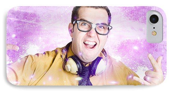 Nerdy Nightclub Dj Spinning A Music Mix IPhone Case