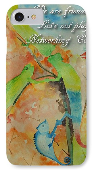 IPhone Case featuring the painting Networking by Geeta Biswas