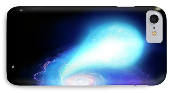Neutron Star And White Dwarf Merging IPhone Case