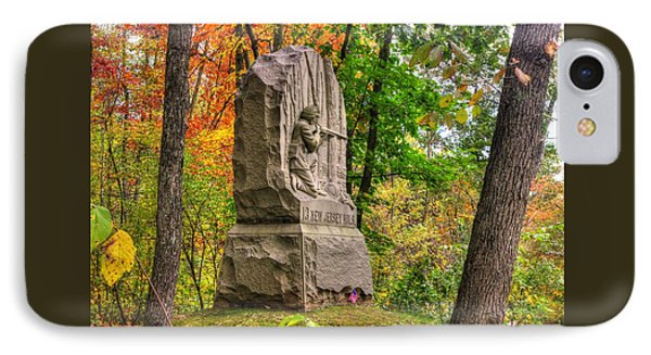 New Jersey At Gettysburg - 13th Nj Volunteer Infantry Near Culps Hill Autumn IPhone Case