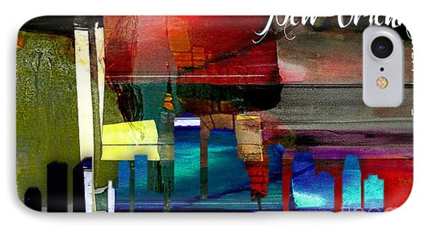 New Orleans Skyline Watercolor IPhone Case by Marvin Blaine