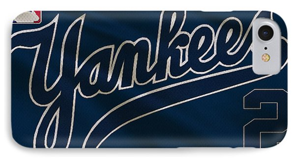 New York Yankees Derek Jeter IPhone Case by Joe Hamilton