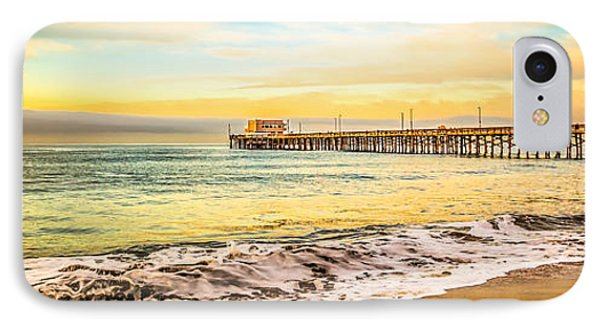 Newport Beach California Pier Panorama Photo IPhone Case by Paul Velgos