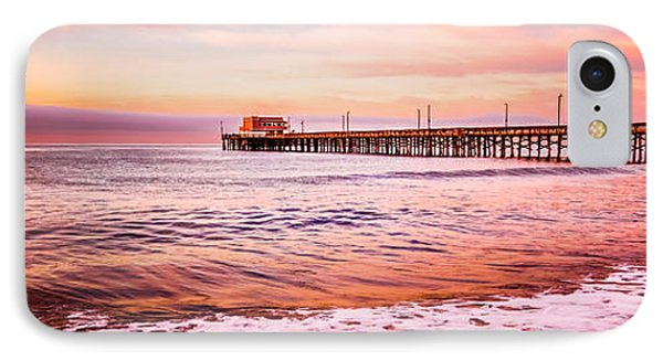 Newport Beach Pier Sunset Panorama Photo IPhone Case by Paul Velgos