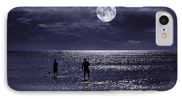 Night Boarders IPhone Case by Laura Fasulo