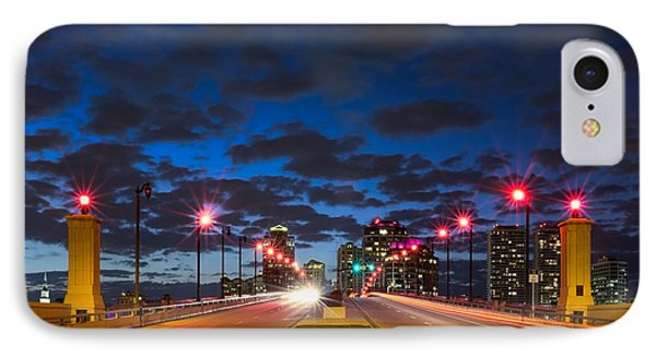 Night Lights Phone Case by Debra and Dave Vanderlaan