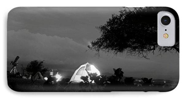 Night Time Camp Site Phone Case by Kantilal Patel