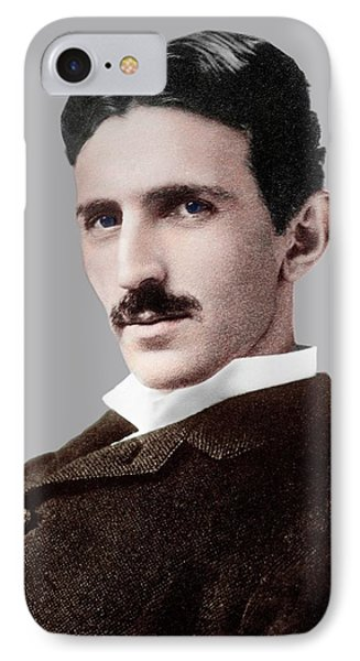Nikola Tesla IPhone Case by Library Of Congress