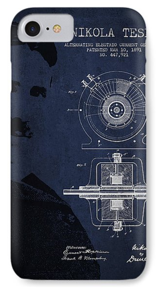 Nikola Tesla Patent From 1891 IPhone Case by Aged Pixel