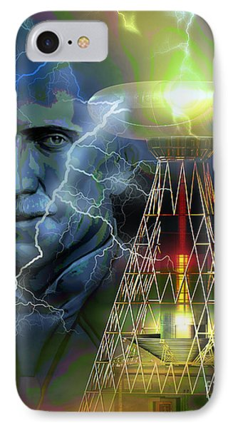 IPhone Case featuring the digital art Nikola Tesla by Shadowlea Is