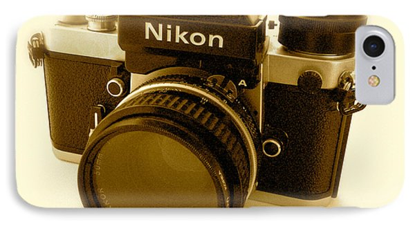 Nikon F2 Classic Camera IPhone Case by John Colley