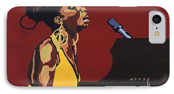 IPhone Case featuring the painting Nina Simone by Rachel Natalie Rawlins