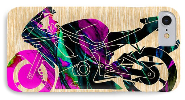 Ninja Bike Art IPhone Case by Marvin Blaine