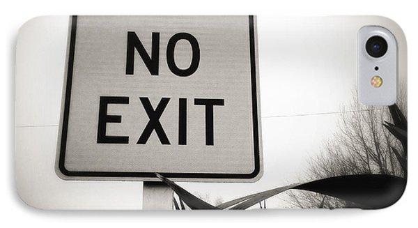 No Exit Phone Case by Les Cunliffe